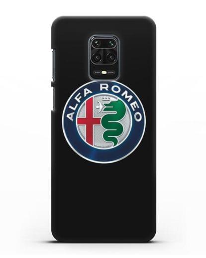 Чехол с логотипом Alfa Romeo силикон черный для Xiaomi Redmi Note 9S