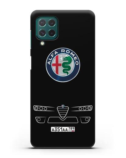 Чехол Alfa Romeo с номерным знаком силикон черный для Samsung Galaxy M62 [SM-M625F]