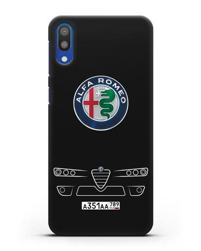 Чехол Alfa Romeo с номерным знаком силикон черный для Samsung Galaxy M10 [SM-M105F]