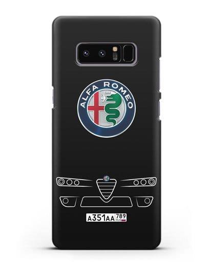 Чехол Alfa Romeo с номерным знаком силикон черный для Samsung Galaxy Note 8 [N950F]