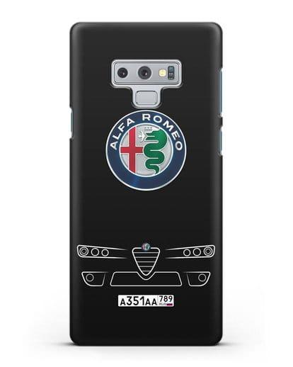 Чехол Alfa Romeo с номерным знаком силикон черный для Samsung Galaxy Note 9 [N960F]