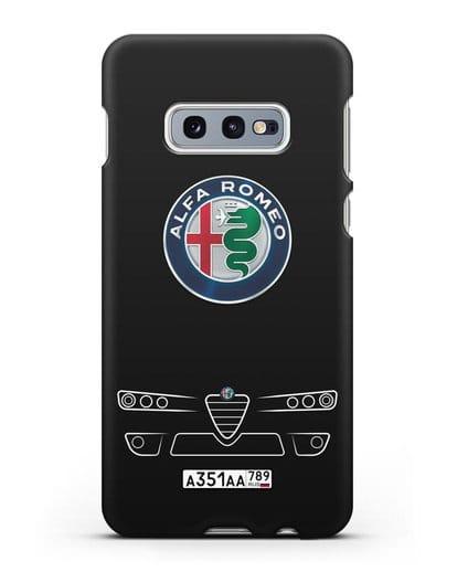 Чехол Alfa Romeo с номерным знаком силикон черный для Samsung Galaxy S10e [SM-G970F]