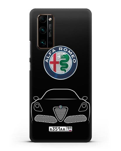 Чехол Alfa Romeo с автомобильным номером силикон черный для Honor 30 Pro Plus