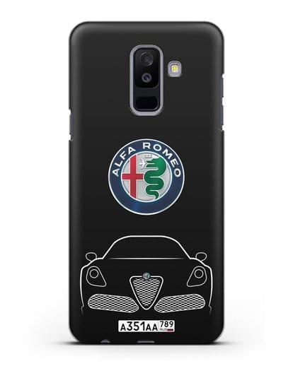 Чехол Alfa Romeo с автомобильным номером силикон черный для Samsung Galaxy A6 Plus 2018 [SM-A605F]