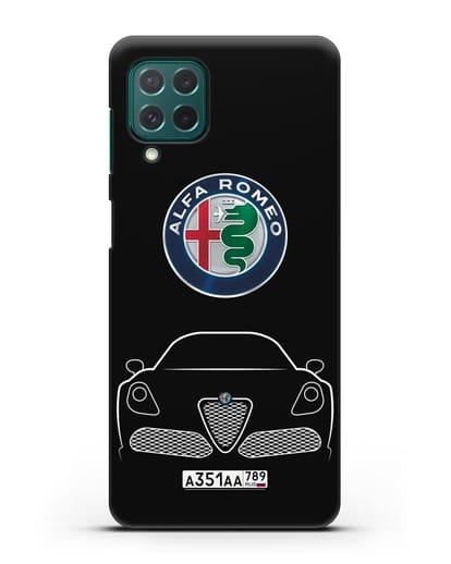Чехол Alfa Romeo с автомобильным номером силикон черный для Samsung Galaxy M62 [SM-M625F]