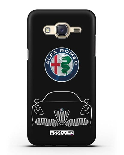 Чехол Alfa Romeo с автомобильным номером силикон черный для Samsung Galaxy J5 2015 [SM-J500H]