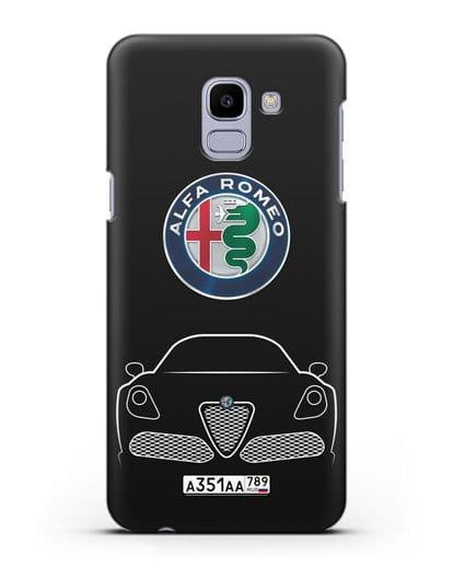 Чехол Alfa Romeo с автомобильным номером силикон черный для Samsung Galaxy J6 2018 [SM-J600F]