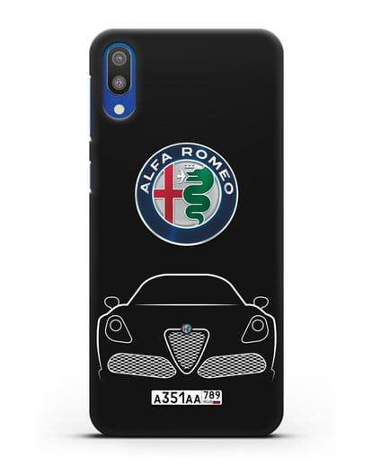 Чехол Alfa Romeo с автомобильным номером силикон черный для Samsung Galaxy M10 [SM-M105F]