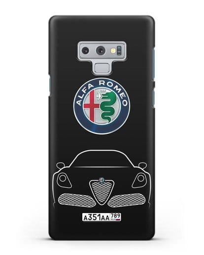Чехол Alfa Romeo с автомобильным номером силикон черный для Samsung Galaxy Note 9 [N960F]