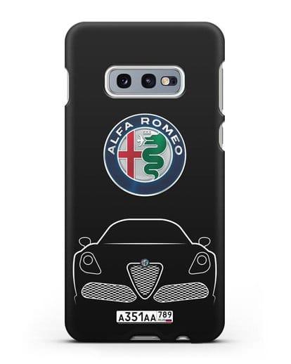 Чехол Alfa Romeo с автомобильным номером силикон черный для Samsung Galaxy S10e [SM-G970F]