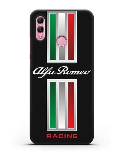 Чехол с логотипом Альфа Ромео силикон черный для Honor 10 Lite