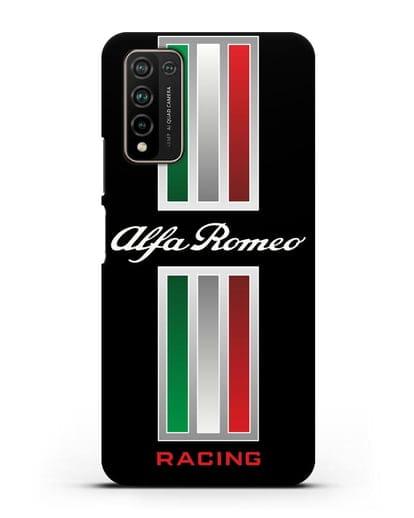 Чехол с логотипом Альфа Ромео силикон черный для Honor 10X Lite