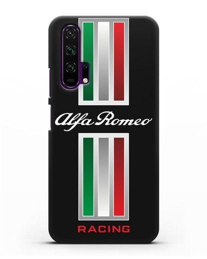 Чехол с логотипом Альфа Ромео силикон черный для Honor 20 Pro