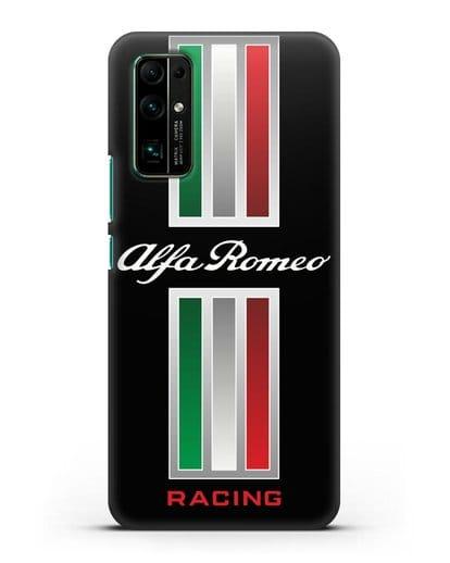 Чехол с логотипом Альфа Ромео силикон черный для Honor 30