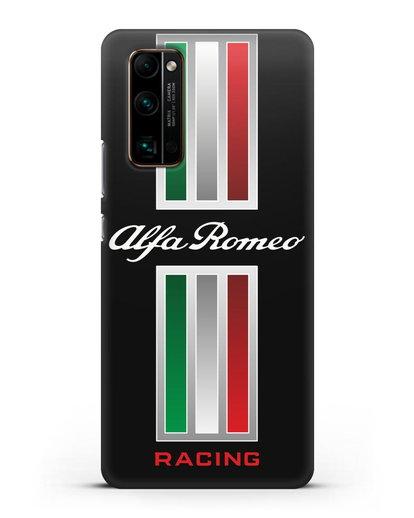 Чехол с логотипом Альфа Ромео силикон черный для Honor 30 Pro
