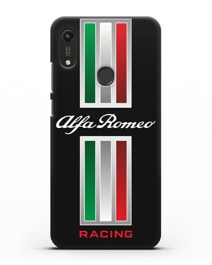 Чехол с логотипом Альфа Ромео силикон черный для Honor 8A Prime