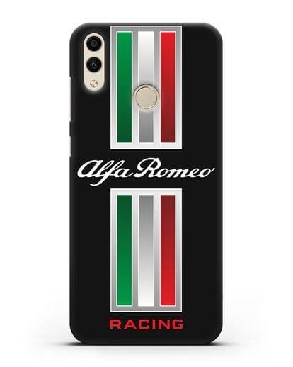 Чехол с логотипом Альфа Ромео силикон черный для Honor 8C