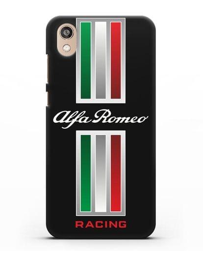 Чехол с логотипом Альфа Ромео силикон черный для Honor 8S