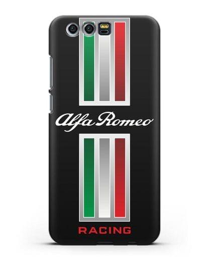 Чехол с логотипом Альфа Ромео силикон черный для Honor 9