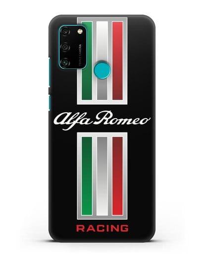 Чехол с логотипом Альфа Ромео силикон черный для Honor 9A