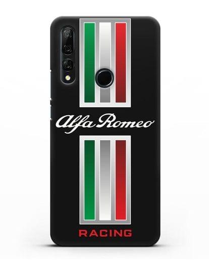 Чехол с логотипом Альфа Ромео силикон черный для Honor 9X