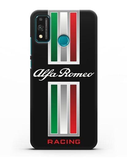 Чехол с логотипом Альфа Ромео силикон черный для Honor 9X lite
