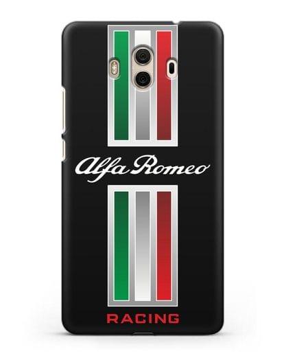 Чехол с логотипом Альфа Ромео силикон черный для Huawei Mate 10