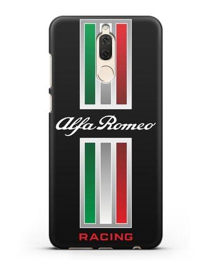 Чехол с логотипом Альфа Ромео силикон черный для Huawei Mate 10 Lite