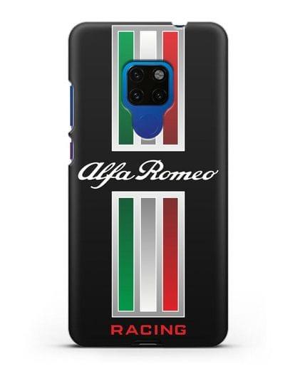 Чехол с логотипом Альфа Ромео силикон черный для Huawei Mate 20