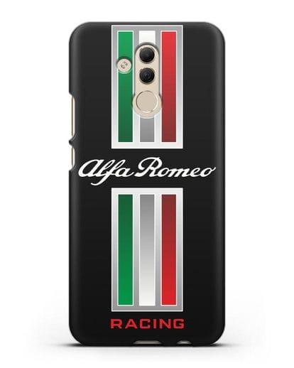 Чехол с логотипом Альфа Ромео силикон черный для Huawei Mate 20 Lite