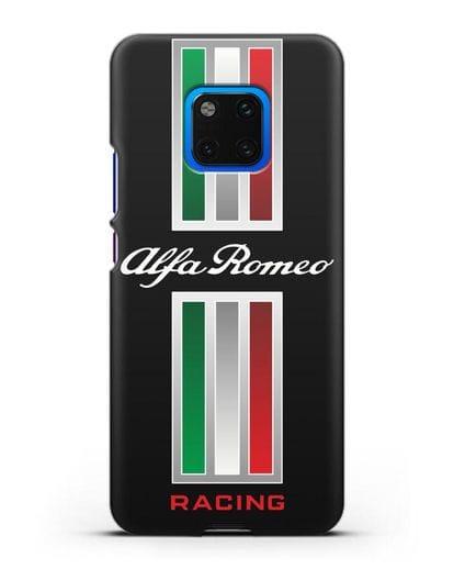 Чехол с логотипом Альфа Ромео силикон черный для Huawei Mate 20 Pro