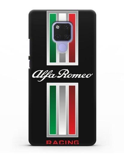 Чехол с логотипом Альфа Ромео силикон черный для Huawei Mate 20X