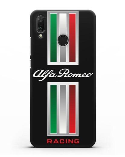 Чехол с логотипом Альфа Ромео силикон черный для Huawei Y9 2019