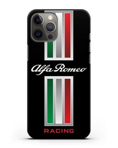 Чехол с логотипом Альфа Ромео силикон черный для iPhone 12 Pro Max