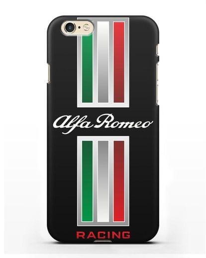 Чехол с логотипом Альфа Ромео силикон черный для iPhone 6s