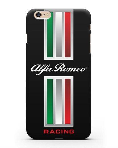 Чехол с логотипом Альфа Ромео силикон черный для iPhone 6 Plus