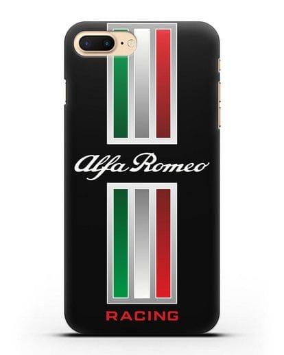 Чехол с логотипом Альфа Ромео силикон черный для iPhone 7 Plus