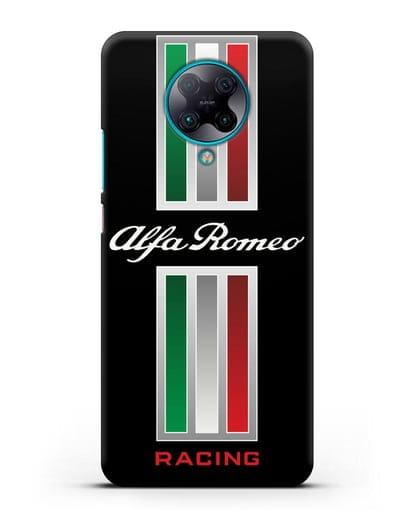 Чехол с логотипом Альфа Ромео силикон черный для Xiaomi Poco F2 Pro