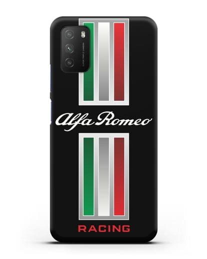 Чехол с логотипом Альфа Ромео силикон черный для Xiaomi Poco M3
