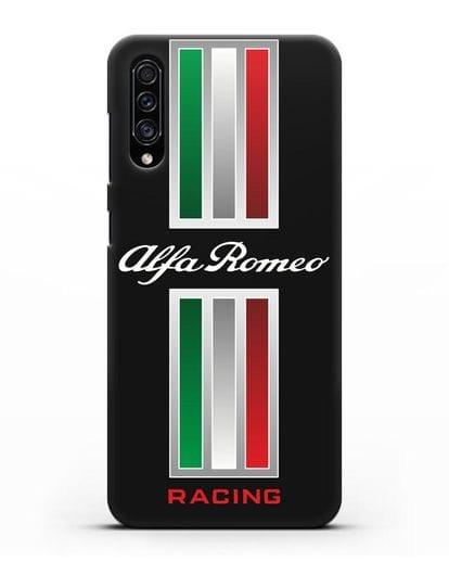 Чехол с логотипом Альфа Ромео силикон черный для Samsung Galaxy A30s [SM-A307FN]
