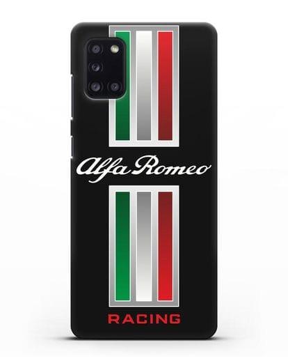 Чехол с логотипом Альфа Ромео силикон черный для Samsung Galaxy A31 [SM-A315F]