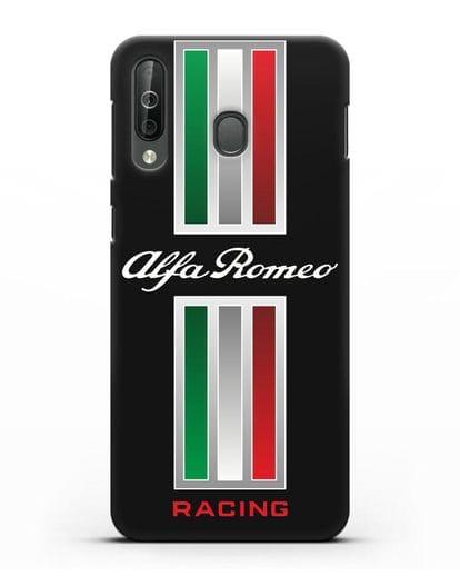 Чехол с логотипом Альфа Ромео силикон черный для Samsung Galaxy A40s [SM-A507FN]