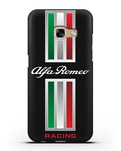Чехол с логотипом Альфа Ромео силикон черный для Samsung Galaxy A7 2017 [SM-A720F]