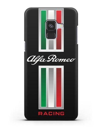 Чехол с логотипом Альфа Ромео силикон черный для Samsung Galaxy A8 [SM-A530F]