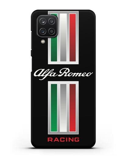 Чехол с логотипом Альфа Ромео силикон черный для Samsung Galaxy A12 [SM-A125F]