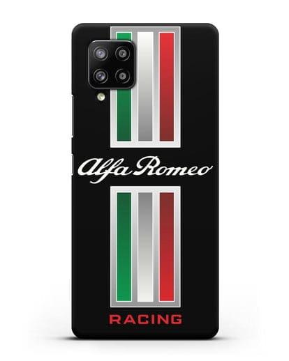 Чехол с логотипом Альфа Ромео силикон черный для Samsung Galaxy A42 [SM-A426B]
