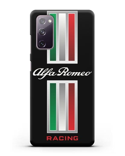 Чехол с логотипом Альфа Ромео силикон черный для Samsung Galaxy S20 FE [SM-G780F]
