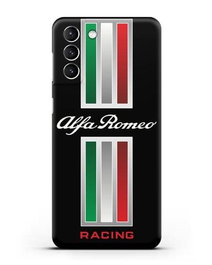 Чехол с логотипом Альфа Ромео силикон черный для Samsung Galaxy S21 Plus [SM-G996B]