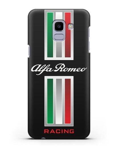 Чехол с логотипом Альфа Ромео силикон черный для Samsung Galaxy J6 2018 [SM-J600F]