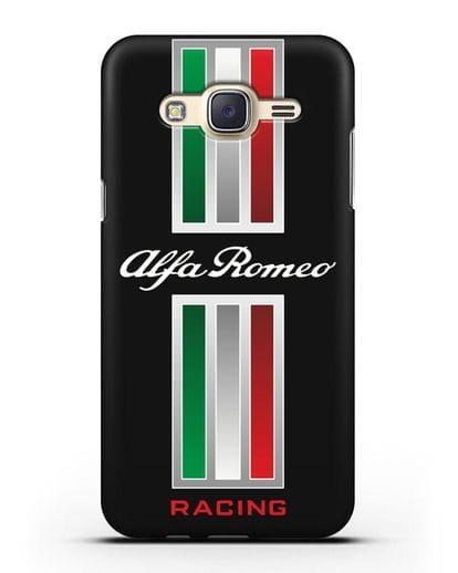 Чехол с логотипом Альфа Ромео силикон черный для Samsung Galaxy J7 Neo [SM-J701F]